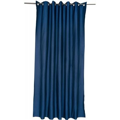 Штора на люверсах Ритм 200х260 см цвет синий