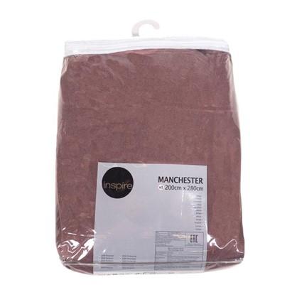 Штора Нью Манчестер 200х280 см крепление люверсы цвет розовый