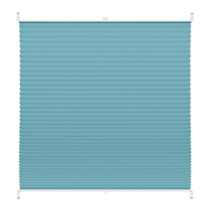 Штора плиссе Плайн 45х160 см текстиль цвет бирюзовый