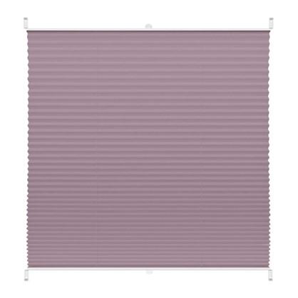 Штора плиссе Плайн 60х160 см текстиль цвет сиреневый