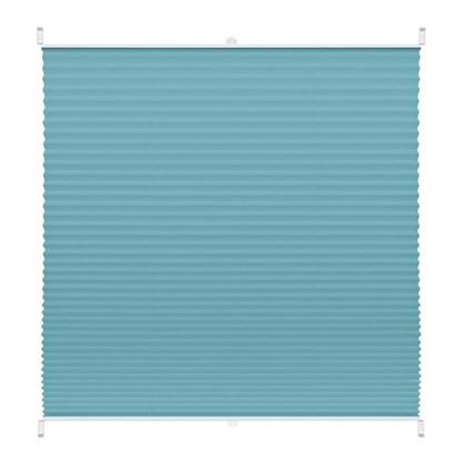 Штора плиссе Плайн 75х160 см текстиль цвет бирюзовый