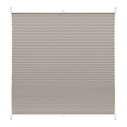 Штора плиссе Плайн 80х160 см текстиль цвет серый