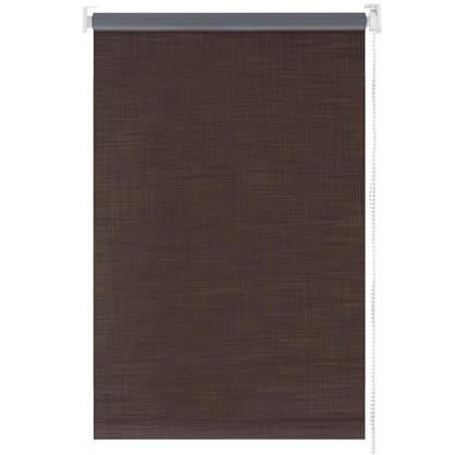 Штора рулонная Blackout 140х175 см шантунг цвет коричневый
