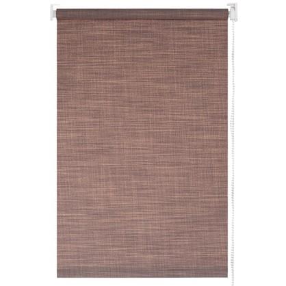 Штора рулонная Blackout 160х175 см шантунг цвет коричневый