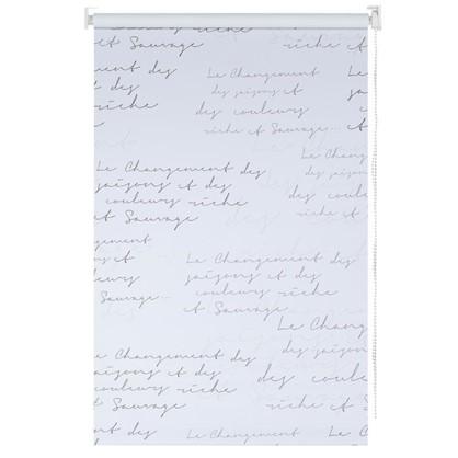 Штора рулонная Blackout Письмо 140х175 см цвет серый