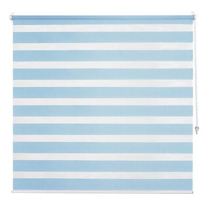 Штора рулонная день-ночь Inspire 180х175 см цвет голубой