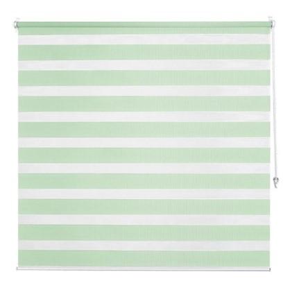 Штора рулонная день-ночь Inspire 80х160 см цвет зеленый