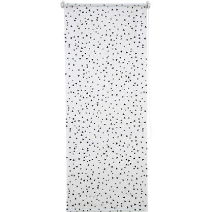Штора рулонная Фантазия 50х160 см цвет черно-белый