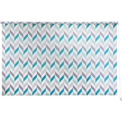 Штора рулонная Геометрия 180х175 см цвет бирюзовый