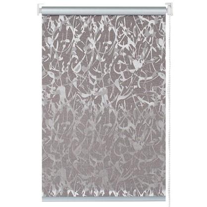Штора рулонная Муар 100х175 см цвет коричневый