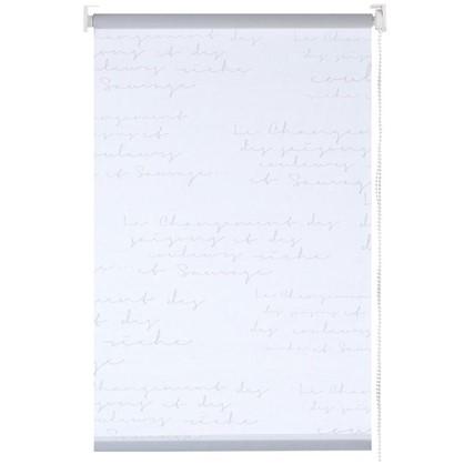 Штора рулонная Письмо 140х175 см цвет белый