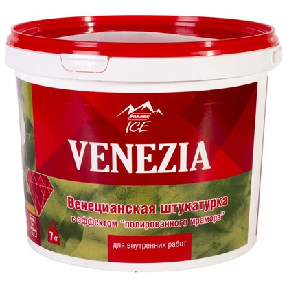 Штукатурка венецианская Parade Ice Venezia 7 кг цвет белый