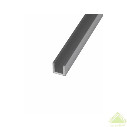 Швеллер алюминиевый 20х25х20х2 см 2 м цвет серебро