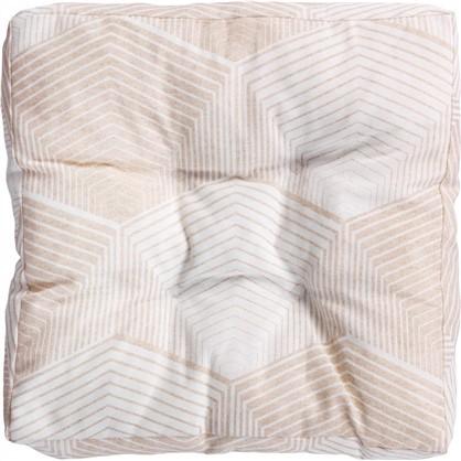 Сидушка для стула Призма 40х40 см цвет бежевый