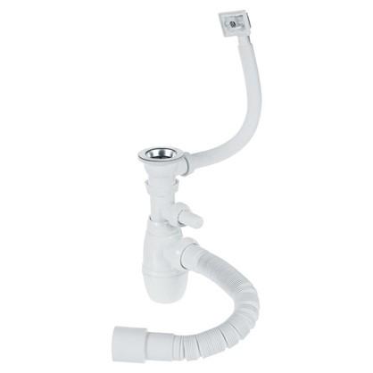 Сифон для мойки Wirquin с переливом и отводом для стиральной машины d 70 мм