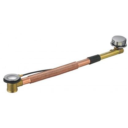 Сифон для ванны Vidage полуавтоматический со сливом 40x650 мм металл