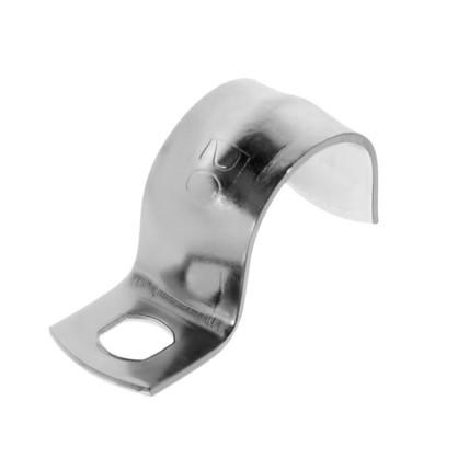 Скоба оцинкованная Экопласт с одним отверстием D20 мм 5 шт.