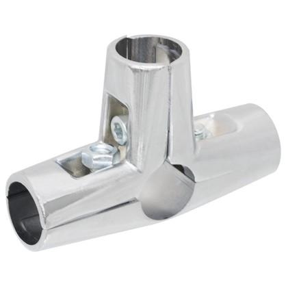 Соединитель четырех труб d25 мм цвет хром
