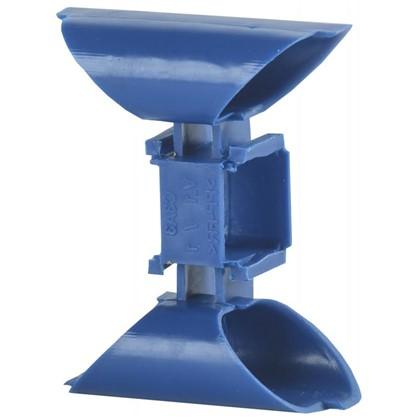 Соединитель для установочных коробок IEK с заземлением цвет синий