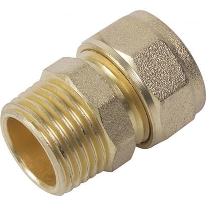 Соединитель обжимной Minkor наружная резьба 16х1/2 мм латунь