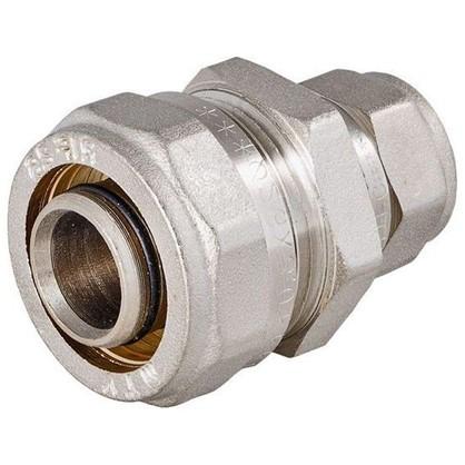 Соединитель обжимной Valtec 20-16 мм никелированная латунь