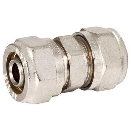 Соединитель обжимной Valtec 20 мм никелированная латунь