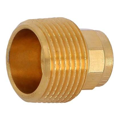 Соединитель пайка 15 мм x 3/4 наружная резьба медь