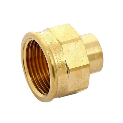 Соединитель пайка 15 мм x 3/4 внутренняя резьба медь