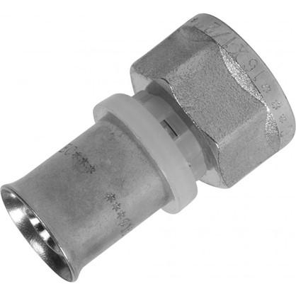 Соединитель пресс Valtec внутренняя резьба 16х1/2 мм никелированная латунь