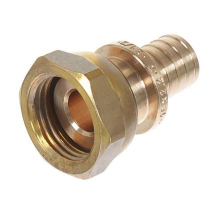 Соединитель Rehau RX 16х1/2 внутренняя резьба с накидной гайкой бронза