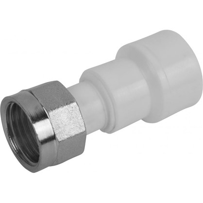 Соединитель с накидной гайкой 20х1/2 мм полипропилен