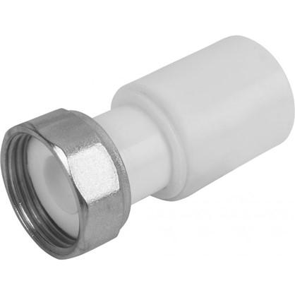 Соединитель с накидной гайкой 20х3/4 мм полипропилен