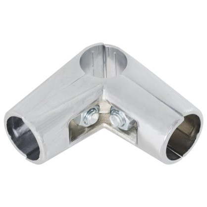 Соединитель трех труб d25 мм угловой цвет хром
