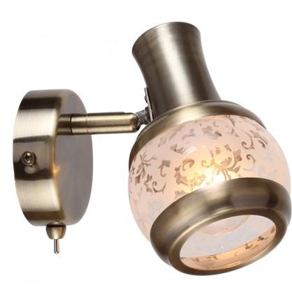 Спот поворотный Flora 1 лампа 2 м² цвет античная бронза
