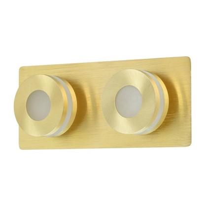 Спот светодиодный Пунктум 2х5 Вт 220 В IP44 цвет золото