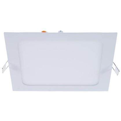 Спот светодиодный врезной квадратный 12 Вт 4000K 18 см цвет белый свет холодный белый
