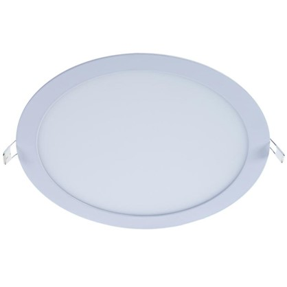 Спот врезной светодиодный круглый 18 Вт диаметр 22.5 см свет холодный белый