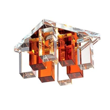 Спот встраиваемый Cryst квадратный цоколь G9 40 Вт цвет янтарный
