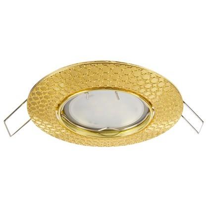 Спот встраиваемый Dino цоколь GU5.3 50 Вт цвет золото