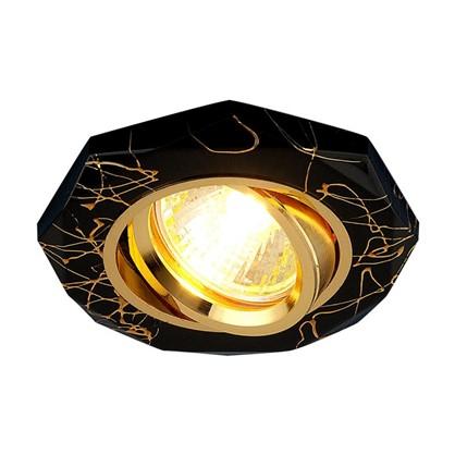 Спот встраиваемый Электростандарт поворотный Divorio цоколь GU5.3 35 Вт цвет черный/золото
