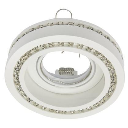 Спот встраиваемый Fable круглый цоколь GU5.3 50 Вт цвет белый/хрусталь