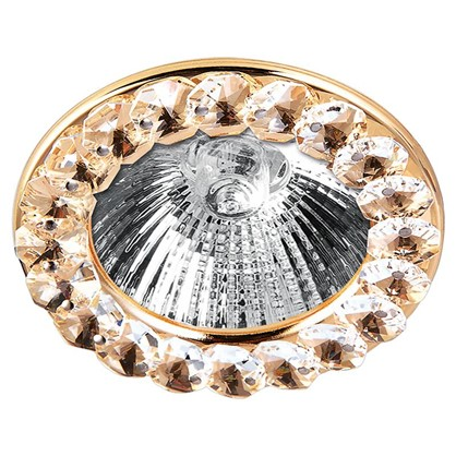 Спот встраиваемый Gloss цоколь GU5.3 35 Вт цвет золото/белый