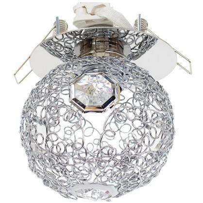 Спот встраиваемый Lace шар цоколь G9 40 Вт цвет хром/прозрачный