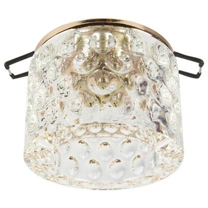 Спот встраиваемый Oval цоколь G9 40Вт цвет золото/прозрачный