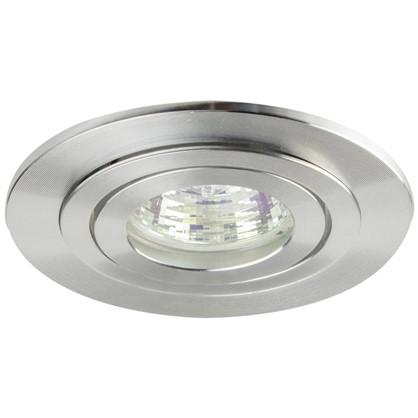 Спот встраиваемый поворотный Power Light 6215/1-4SCH цоколь GU5.3 50 Вт цвет матовый хром