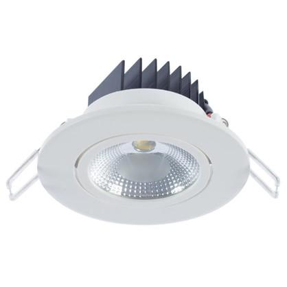 Спот встраиваемый светодиодный 5 Вт 375 Лм 3000 К круг белый
