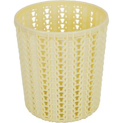 Стакан для зубных щеток Вязание 11х10х10 см цвет слоновая кость