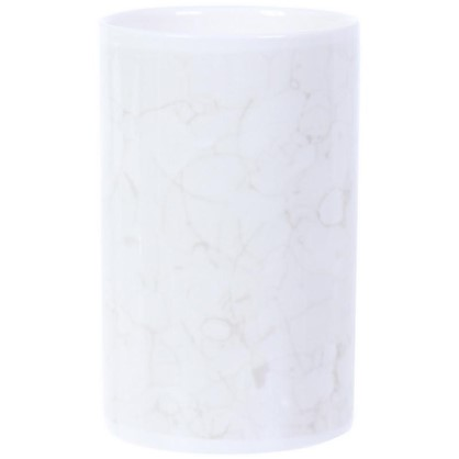 Стакан для зубных щеток Marmo керамика цвет белый