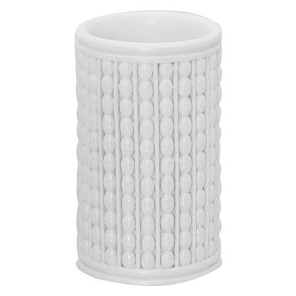 Стакан для зубных щеток настольный Classic цвет белый