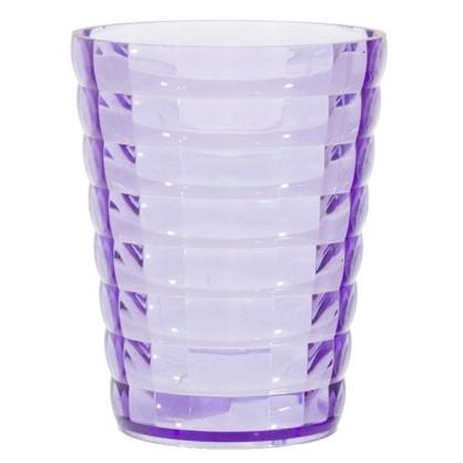 Стакан для зубных щеток настольный цвет фиолетовый